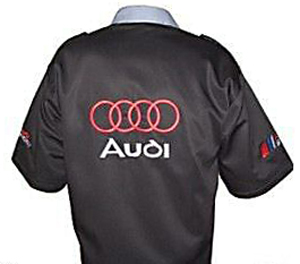 Audi Crew Shirt Black and Gray