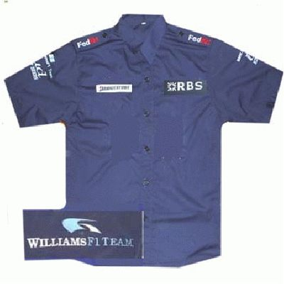 BMW RBS Williams F1 Crew Shirt Blue
