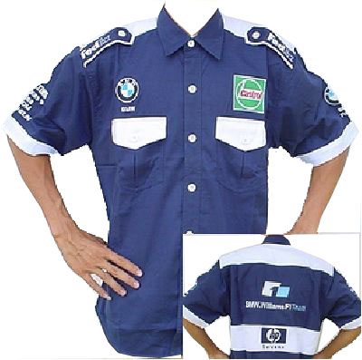 BMW Williams F1 Crew Shirt Navy Blue