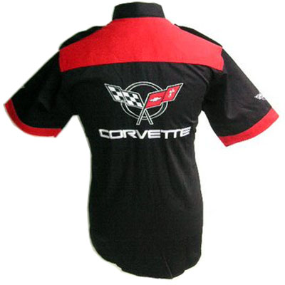 Corvette C5 Crew Shirt Black with Red