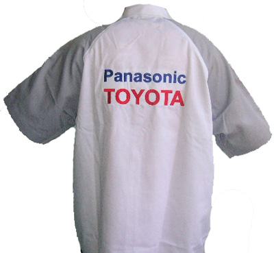 Toyota Panasonic Crew Shirt White and Gray