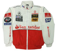 Mercedes Benz Santander Racing Jacket, White & Red