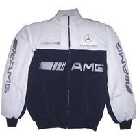 Mercedes benz amg racing jacket white dark blue for Mercedes benz women s jacket