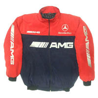 Mercedes Benz AMG Racing Jacket, Dark Blue & Red