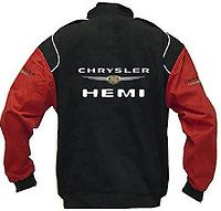Chrysler Hemi Logo Racing Jacket Black and Red