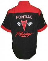 Pontiac Crew Shirt Black with Red
