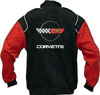 Corvette C4 Racing Jacket Black and Red