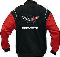 Corvette C5 Racing Jacket Black and Red