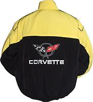 Corvette C5 Racing Jacket Black and Yellow