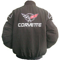 Corvette C5 Racing Jacket Black with Red