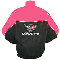 Corvette C5 Racing Jacket Dark Pink and Black