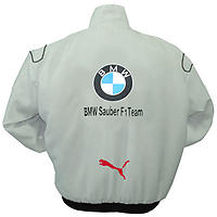 BMW F1 Sauber Team Racing Jacket White and Royal Blue