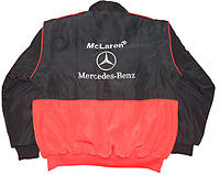 Mercedes Benz Santander Racing Jacket, Black & Red