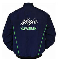 Kawasaki Ninja Motorcycle Jacket Dark Blue