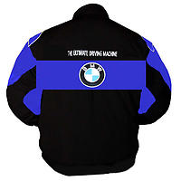 BMW Power Racing Jacket Royal Blue and Black