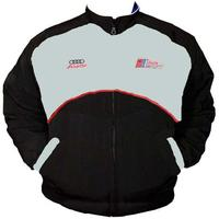 Audi Racing Jacket Light Gray and Black