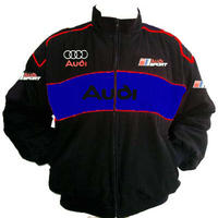 Audi Sport Racing Jacket Black and Royal Blue