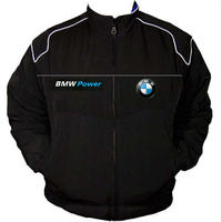 BMW Power Racing Jacket Black with White Piping