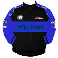 BMW Williams F1 Racing Jacket Black and Royal Blue