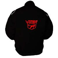 Viper Racing Jacket Black with White piping