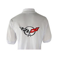 Corvette C5 Racing Polo Shirt White