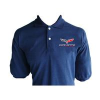 Corvette C6 Polo Shirt Dark Blue