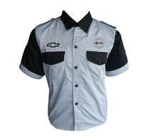 Corvette C1 Crew Shirt Gray and Black