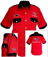 Corvette C5 Crew Shirt Red and Black