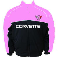 Corvette C5 Racing Jacket Light Pink and Black