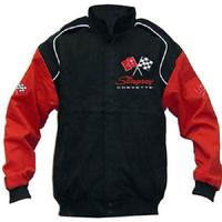Corvette C2 Racing Jacket Black and Red