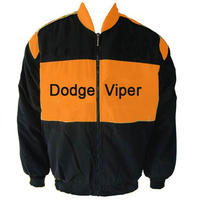 Dodge Viper Racing Jacket Black and Orange