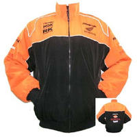 Honda Repsol Racing Jacket Black and Orange