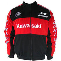 Kawasaki KX Motorcycle Jacket Black and Red