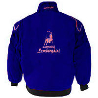 Lamborghini Racing Jacket Blue with Red Piping