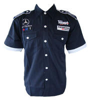 Mercedes Benz West Racing Shirt Dark Blue with White Trim