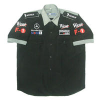 Mercedes Benz West F1 Racing Shirt Black with Light Gray Trim