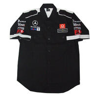 Mercedes Benz West F1 Racing Shirt Black with White Trim