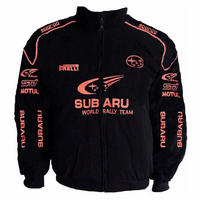 Subaru Jacket Black with Piping