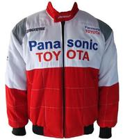 Toyota Panasonic Racing Jacket White and Red with Gray