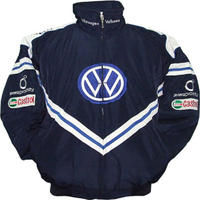 VW Volkswagen Racing Jacket Dark Blue with White