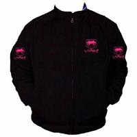 Viper Fangs Racing Jacket Black with Pink Embroidery