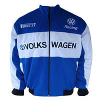 VW Volkswagen Racing Jacket Blue and White