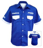 Yamaha FJR1300 Crew Shirt Blue and White